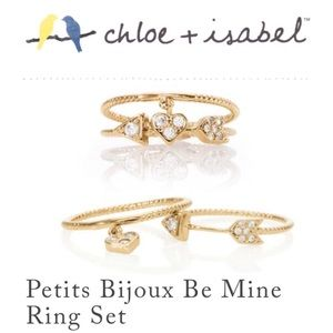 🆕 Petits Bijoux Be Mine Ring Set c+i R132CLSG-6/8